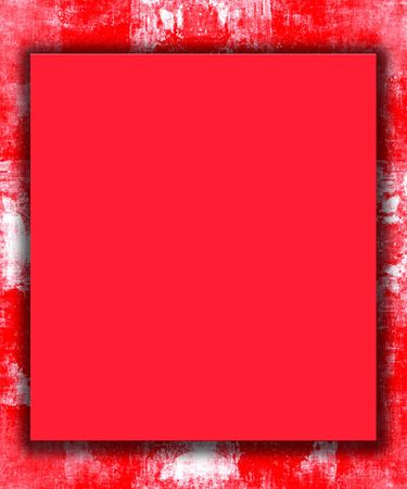 Red Painted Border Frame Grunge