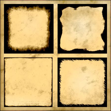 western wall: Old Vintage Paper Series, Set Of Four Designs
