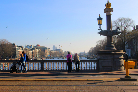 Couple on Bridge, Amsterdam