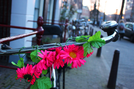 Bicycle Amsterdam Stock Photo