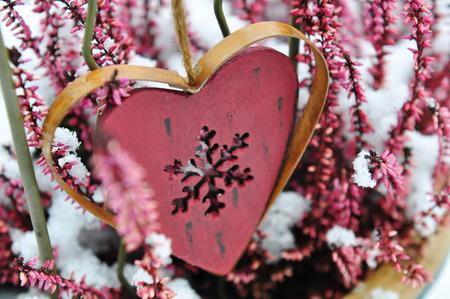 jahreswechsel: garden christmas decoration with snow