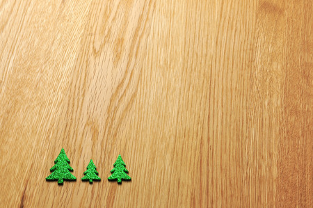 holz: christmas decoration with timber background