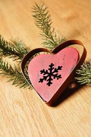 jahreswechsel: decorazioni di Natale con legno di sfondo Archivio Fotografico