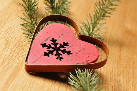 jahreswechsel: christmas decoration with timber background