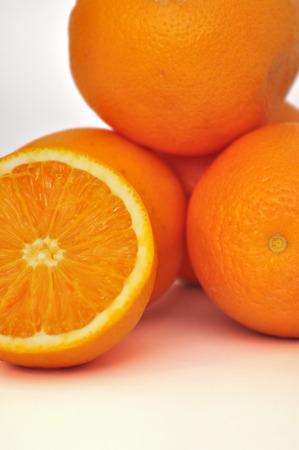 jahreswechsel: dettaglio di frutta arancione, sezione trasversale Archivio Fotografico