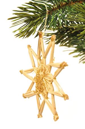 jahreswechsel: hang up christmas decoration Stock Photo