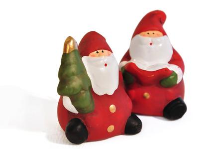 Santa Clause auf weißem Hintergrund