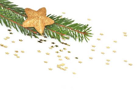 Christmas star on white background photo