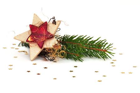 Kerst ster op een witte achtergrond