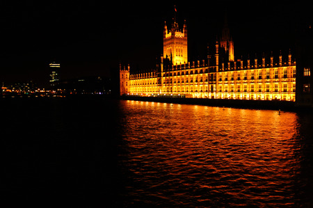 gold en: Palace of Westminster in London, Great Britain Editorial