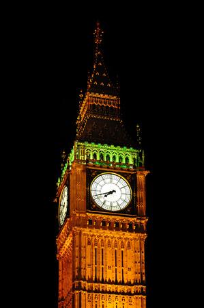 gold en: Big Ben in London; Great Britain Stock Photo