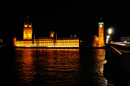 gold en: Palace of Westminster in London, Great Britain Stock Photo