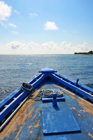 boat in the indian ocean