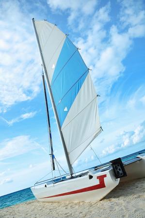 catamaran in the indian ocean