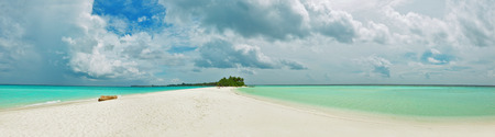 indische oceaan, mooie Maldivische strand