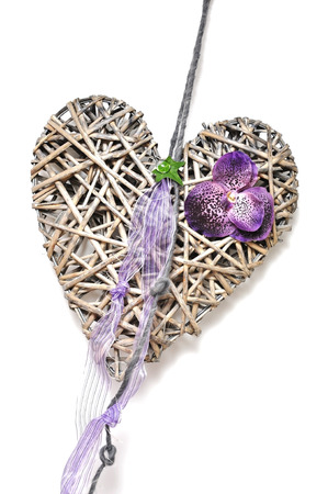 nger: Heart braided, decoration for hanging