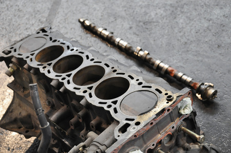disassembled engine block, spare part