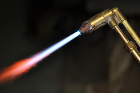 vonken uit een plasma cutter Stockfoto