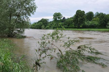 Danube flood near Ulm, Germany photo