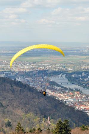 paraglider: Paraglider over Heidelberg in Germany