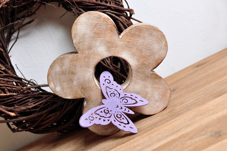 home accessories: purple wooden butterfly, home accessories