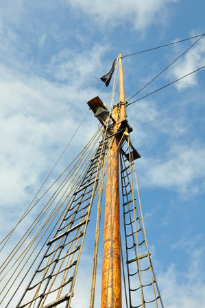 fock: mast of a sailing ship