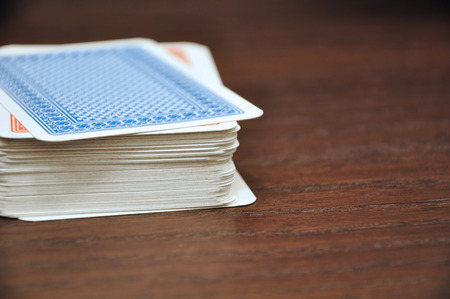 rummy: Detail of classic rummy cards