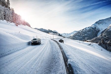 Winter landscape in the Alps 版權商用圖片 - 43872963