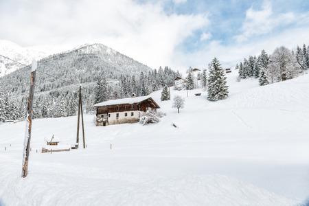 Winter landscape in the Alps