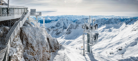 wondervoll winter day on the Zugspitze