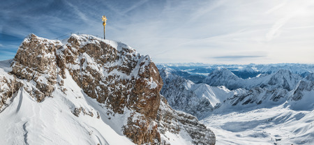 wondervoll winter day on the Zugspitze
