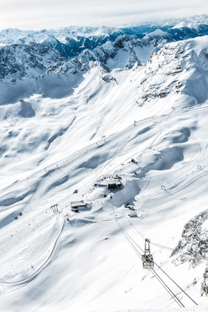 railway points: wondervoll winter day on the Zugspitze
