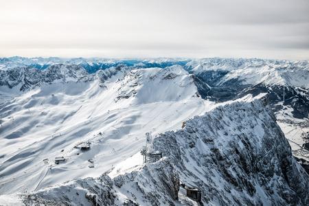 Wonderful winter day on the Zugspitze 版權商用圖片