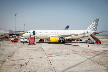 Airport Teneriffa, Airplane 版權商用圖片