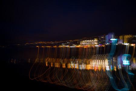 Puerto de la Cruz at night - wiggly photo
