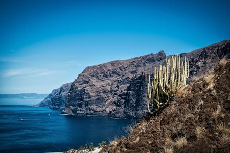 Bekijk punt - Los Gigantes van Tenerife Stockfoto