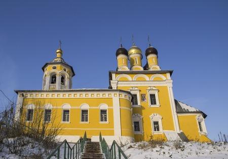 st nicholas: View of the embankment of the church of St. Nicholas Nikolo-Naberezhnaya. Murom, Russia.