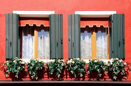 murano: Window with Flowers, Murano, Italy