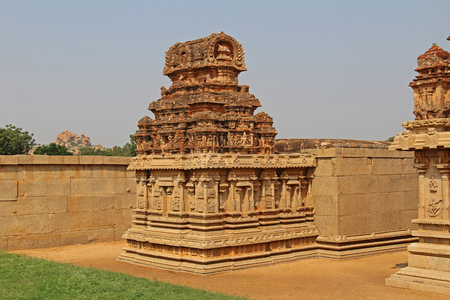 Hazara Rama Temple in Hampi, Karnataka, India. Unesco World Heritage Site. The famous tourist destination from GOA.