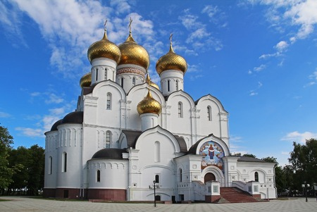 Assumption (Uspensky) Cathedral of the Russian orthodox church, Yaroslavl. Golden ring of Russia.
