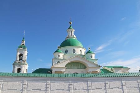 Dimitrievsky Cathedral of the Spaso-Yakovlevsky Dimitriev (St. Jacob Savior) monastery in a summer day. Rostov Velikiy, Russia. 写真素材