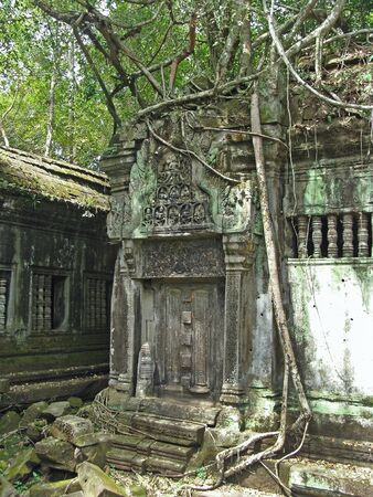 Ancient ruins of Beng Melia in the jungle in Cambodia.