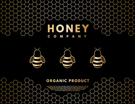 Honey for company or label background