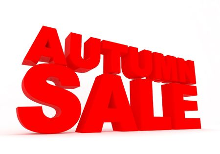 red autumn sale sign on white with shadow Stock Photo - 8087784