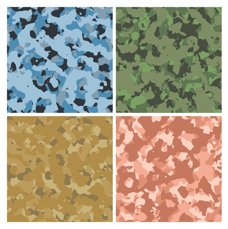 red green blue and sand military camoflage background Stock Photo