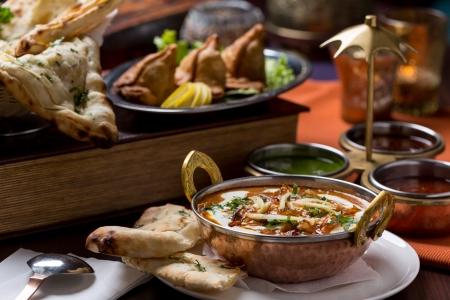 viandes et substituts: la nourriture indienne Banque d'images