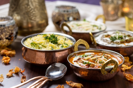 close up food: Indiaas eten