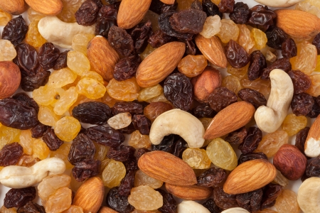 raisins and nuts background photo