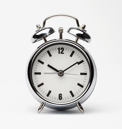 reloj despertador: reloj despertador retro Foto de archivo