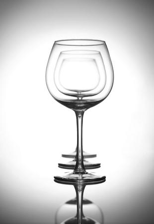 three wine glasses photo
